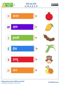 Education Discover Teaching Hindi Alphabets - हद अकषर सख - अ आ इ ई उ ऊ Lkg Worksheets, Hindi Worksheets, 1st Grade Worksheets, Kindergarten Worksheets, In Kindergarten, Spelling Worksheets, Hindi Alphabet, Alphabet Letter Crafts, 2 Letter