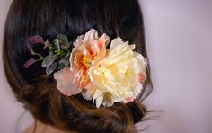 A personal favorite from my Etsy shop https://www.etsy.com/ca/listing/266483269/bridal-hairpiece-silk-floral-comb
