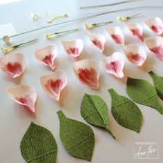DIY Crepe Paper Flower Petals