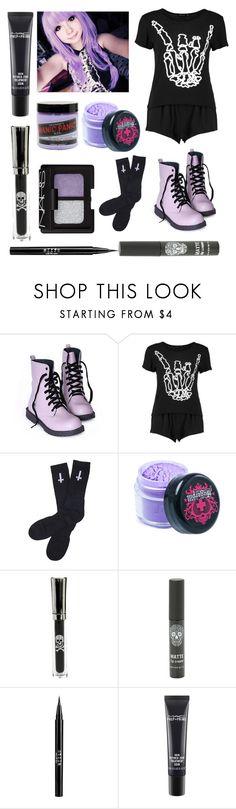 """Pastel Goth #24"" by fredsslytherin ❤ liked on Polyvore featuring Manic Panic NYC, Abandon Ship, Sugarpill, NARS Cosmetics, Hot Topic, Stila, MAC Cosmetics, men's fashion and menswear"