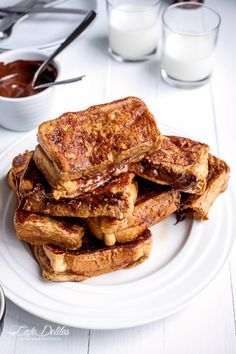 cappuccino french toast with coffee cream. want.