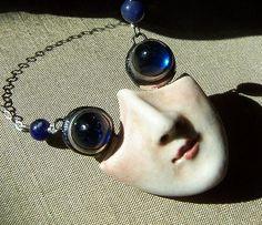 Porcelain pendant by Felicia Nilson