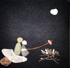 """Pebble Art by Denise. """" By the Fire """""""