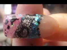 Acrylic Nail Design - Hearts / Nail Foil Stickers