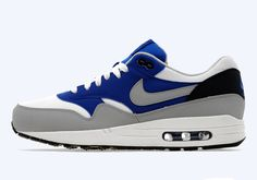 Nike Air Max 1 – White – Wolf Grey – Game Royal