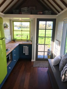 LOVE LOVE LOVE! After living in a home with four other people, this tiny home's owners, Kieran and Bree, decided to purchase their very own home. They opted for an 8' x 20' tiny house RV from the Tumbleweed Tiny House Company.