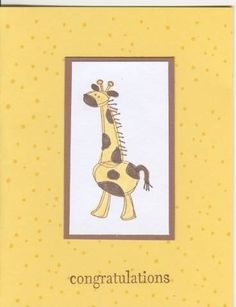 Baby Congratulations Giraffe by - Cards and Paper Crafts at Splitcoaststampers Congratulations Baby, Baby Cards, Nye, Giraffe, Amanda, Paper Crafts, Felt Giraffe, Tissue Paper Crafts, Paper Craft Work