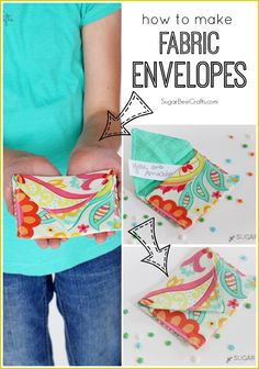 how to make Fabric Envelopes - Sugar Bee Crafts