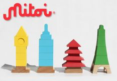 mitoi iconic architectural building block toys for kids