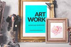 Posted by @newkoko2020 Artwork Showcase Generator by Mockup Zone on @creativemarket