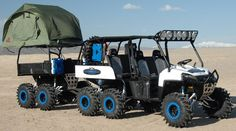 2011 custom Project X/Spider Money Polaris Ranger 6x6 w/trailer
