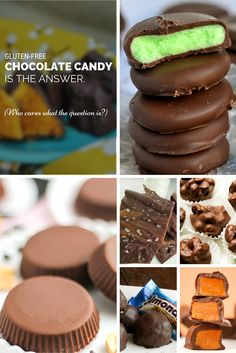 Gluten-Free Chocolate Candy is the Answer. Who cares what the question is? #glutenfree #glutenfreerecipes #chocolate