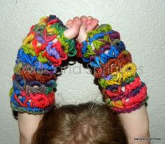 Broomstick lace fingerless gloves « The Yarn Box