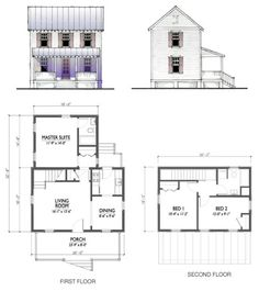 Katrina kit house from 308 sf-1800sf. Mom likes this plan.