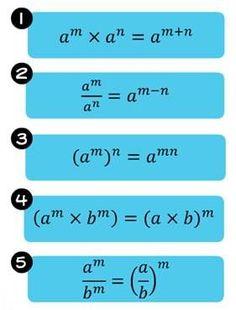 exponents, laws of exponents, index, power, exponential term, base Mehr zur Mathematik und Lernen allgemein unter zentral-lernen.de