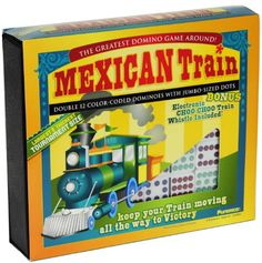 Save $9.00 on Dominoes Mexican Train Tournament Size Double 12 Set with Color Dots; only $45.99