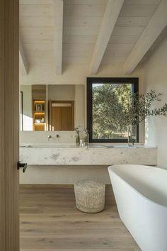 Dream Home Design, House Design, Natural Home Decor, Natural Modern Interior, Bathroom Interior Design, Interior Livingroom, Interior Ideas, House In The Woods, House Rooms