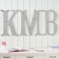 Camille Wall Letters, Glitter #pbteen