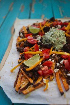 Loaded Tex Mex Sweet Potato Fries - Naked Cuisine