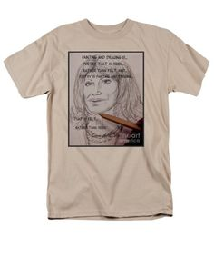 Painting and Drawing is Poetry 2 T-Shirt by Joan-Violet Stretch