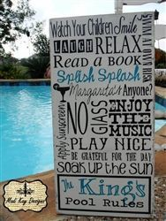 painted pool signs | hand painted pool sign! All Madi Kay Designs signs are hand painted ...