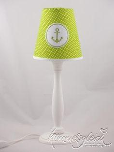 Lampenschirm maritim Anker grün von himmelsgleich via dawanda.com