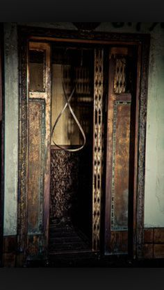Abandoned Elevator at The Baker Hotel