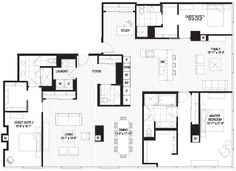Penthouses in Chicago Floor Plans | penthouse-a floorplan