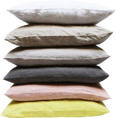 a simple linen pillow makes the best spot to relax.