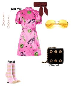 """#fashion # minifashionicon"" by minifashionicon on Polyvore featuring Miu Miu, Fendi, Ippolita and Chanel"