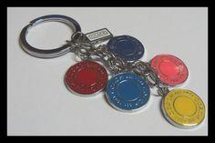Pink Logo Key Chain Keychain Made by Chanel C Diamond Free Box