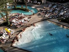 Wave Pool and Lazy River at the Monte Carlo Resort in Las Vegas.