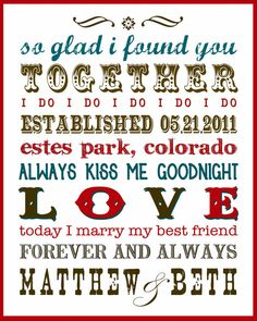 Subway Art for Newlyweds by annettejoydesigns on Etsy