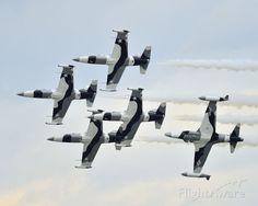 The Black Diamond Jet Team performing at Sun 'n Fun 2013, Lakeland Linder Airport, Florida
