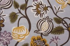 Guest room curtains? Robert Allen - DwellStudios Freja Printed Cotton Drapery Fabric in Amethyst $17.95 per yard