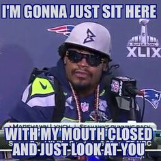 Seahawks.. Leave Marshawn alone! Just let him play football, as that is what he is good at!