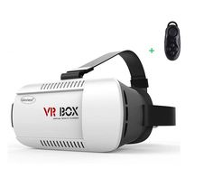 """Gloriest 3D VR Virtual Reality Glasses Rift 3D Movies and 3d Games for 4.7"""" - 6.0"""" Smart Phone,Samsung Galaxy S3 S4 Etc,Better than Google Cardboard, Adjustable Strap With Remote Controller. The position of phone can be moved at any time even while watching movies or playing games, it is convenient to make sure the middle lines of phone and glasses overlap. Adjustable distance between cell phone and lens,suitable for different people,adjustable to every user;360 degree panoramic views…"""