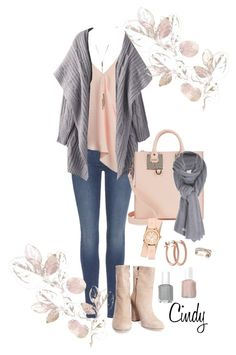 """""""Fall & Winter"""" by cindy32tn on Polyvore featuring 7 For All Mankind, Sans Souci, Iris & Ink, Sophie Hulme, Care By Me, Michele, Pori, Effy Jewelry and Essie"""