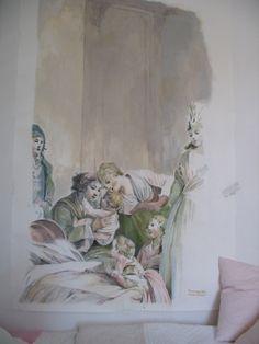 Tableau à la gouache d'après Jean-Baptiste Huet : Peintures par chipoty