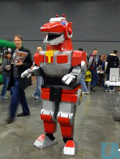 Tyrannosaurus Dinozord from Mighty Morphin Power Rangers Cosplayed by ? Photographed by ? Source: Comics Alliance