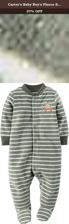 Carters Baby Boys Fleece Snap Up Sleep and Play - 6 Months. Super soft fleece keeps your baby boy cozy for tummy time, nap time or anytime. Plus, an easy 1-piece makes getting dressed a snap.
