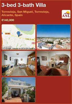 3-bed 3-bath Villa in Torrevieja, San Miguel, Torrevieja, Alicante, Spain ►€140,000 #PropertyForSaleInSpain