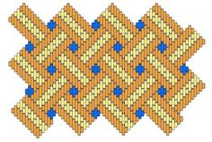 Medieval Arts & Crafts: Brick stitch pattern #5