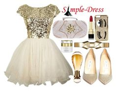 """""""Gold And Pearl"""" by fattie-zara ❤ liked on Polyvore featuring Marni, Chiara Ferragni, Jimmy Choo, Dolce&Gabbana and Christian Dior"""