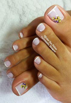33 modelos de unhas dos pés decoradas
