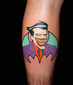 Animated Batman Joker tattoo by Chris 51 of Area 51 Tattoo in Springfield, OR & Epic Ink on A&E