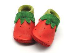 Krabbelschuhe - Krabbelschuhe Krabbelpuschen Lauflernschuhe Leder - ein Designerstück von safinio bei DaWanda