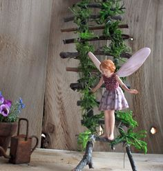 2016 Rickety Ladder Fairy Ladder by OliveNatureFolklore on Etsy