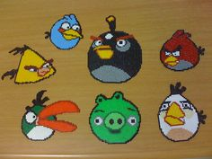 Angry Bird Perler Bead Designs! :)