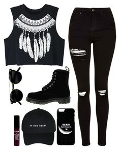 """"""" You Want Her, You Need Her, But I'll Never Be Her """" by feel-like-infinity ❤ liked on Polyvore featuring WithChic, Topshop, Dr. Martens, NYX and afother"""